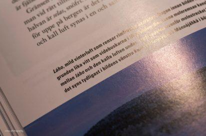 Uppslag i bok om snö på samiska - av Cricco