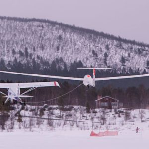 Bogsering av segelflygplan. Cricco