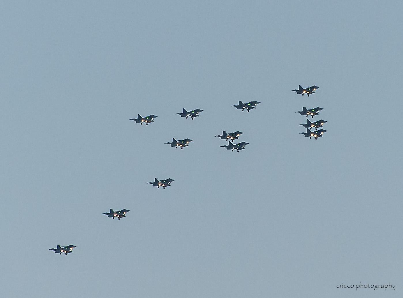 13 december - Cricco Julgransflygning av F21