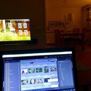 Dag 30 En stund framför tvn med datorn i famn.