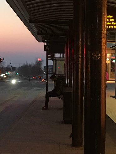 Busshållplats Smedjegatan - av Eva