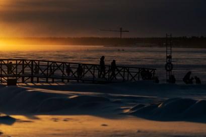 Södra hamn Luleå, en kall januaridag. -av Margareta