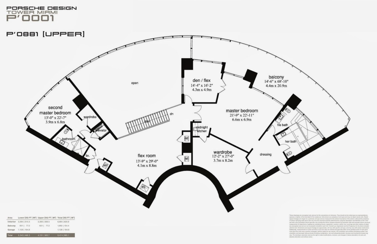Porsche design tower floorplan 12