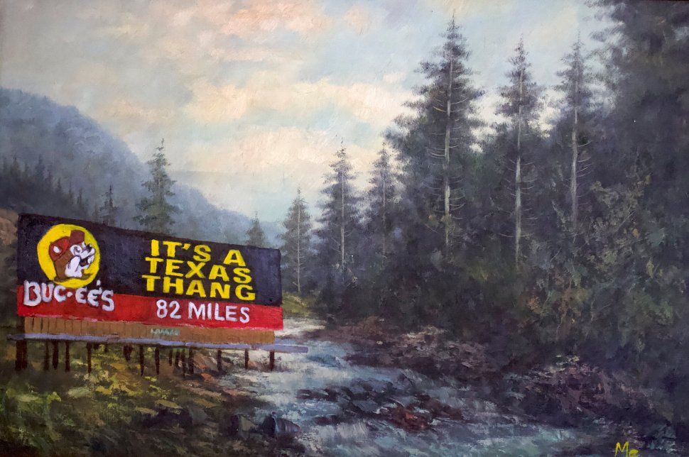 Artist lovingly paints Texas fast food joints in Kinkade-esque scenery