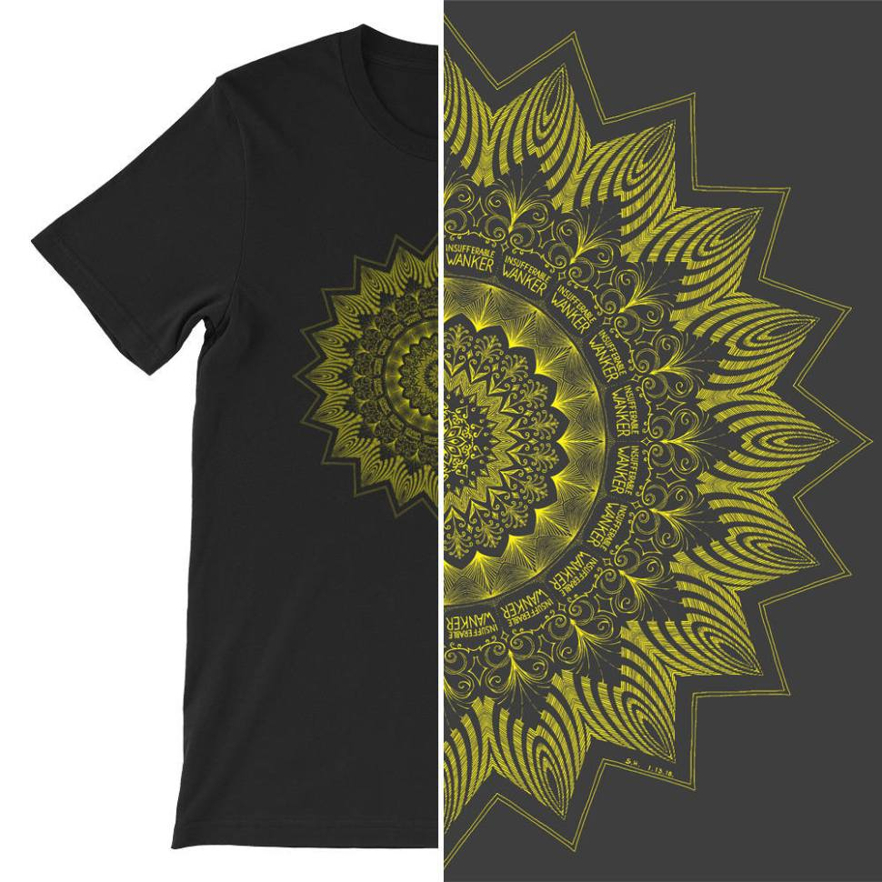 2a5d65fb For example, this t-shirt's design appears to be a fancy mandala at first  glance. But look closer and you'll see the words