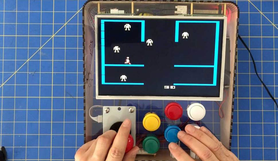 I made this cool desktop video game arcade machine with the