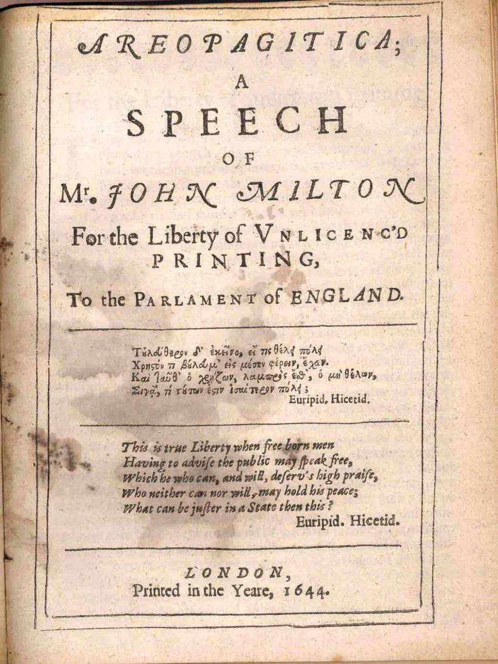 How #Article13 is like the Inquisition: John Milton Against the EU #CopyrightDirective
