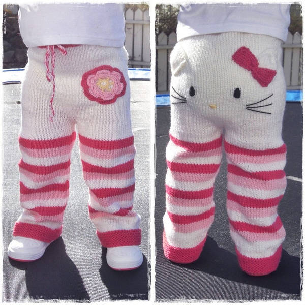 Knitting Games Hello Kitty : Hello kitty toddler trousers knitting pattern boing