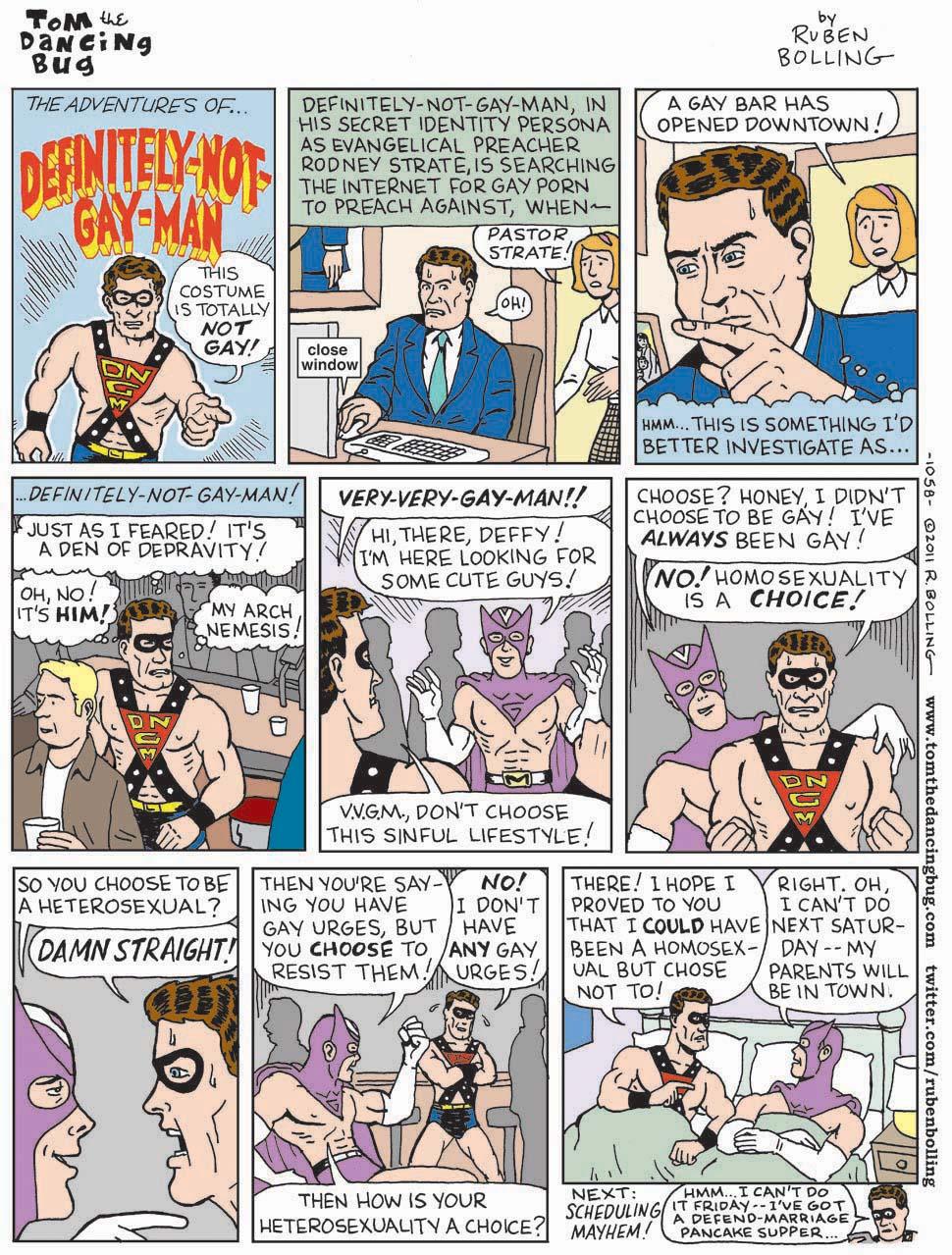 Comic of gay man