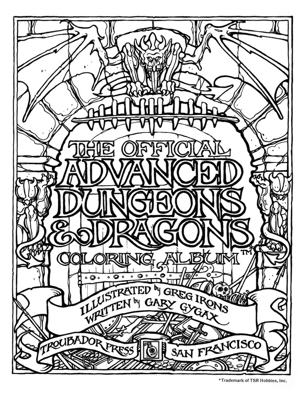 Official Advanced Dungeons and Dragons: Coloring Album