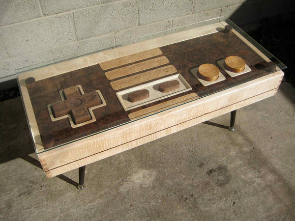 Etsy Seller TheBohemianWorkbench Combines Fine Joinery With Fine Nerdery  And Comes Up With A Beautiful, Handmade Wooden Coffee Table That Resembles  A Giant ...