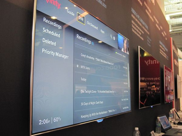 Comcast X1 interface