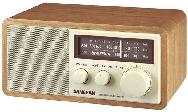 After futzing around with various streaming radio apps and bluetooth  speakers  my wife told me she wanted a real tabletop radio for the kitchen. Attractive  simple table top radio  Sangean WR 11   Boing Boing