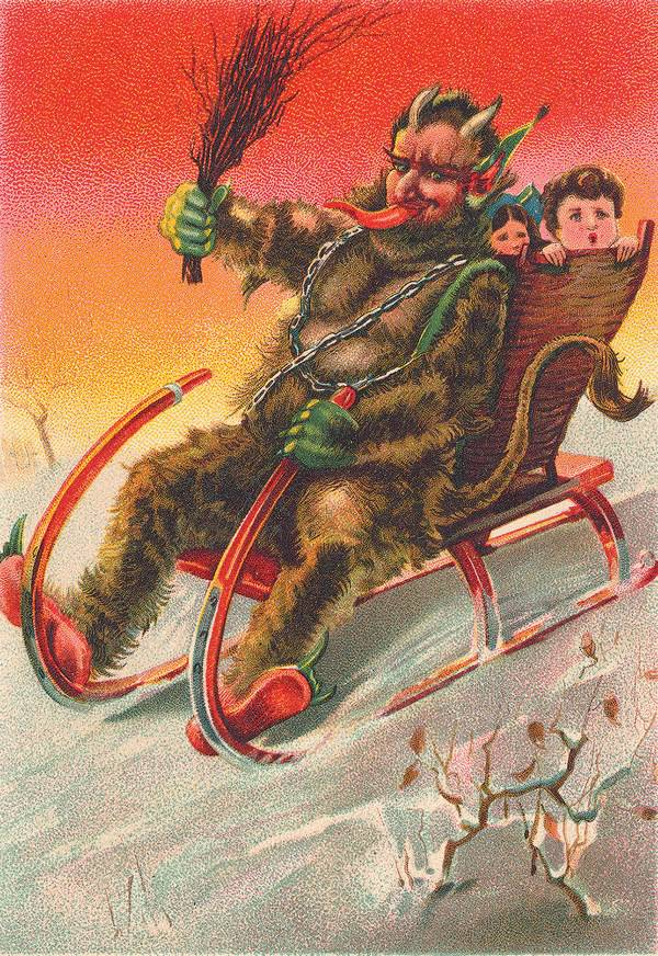 Krampus The Devil Of Christmas Greeting Cards Boing Boing
