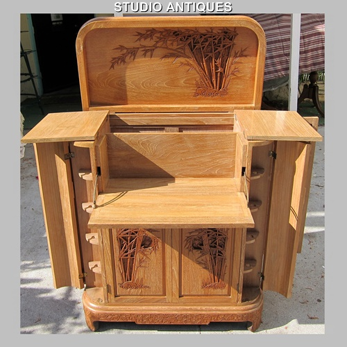 Deco tiki drinks cabinet boing boing for Built in drinks cabinet