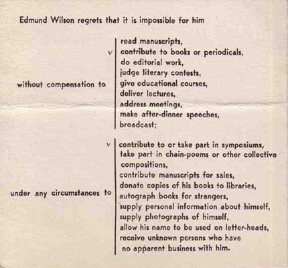 How Edmund Wilson said NO / Boing Boing