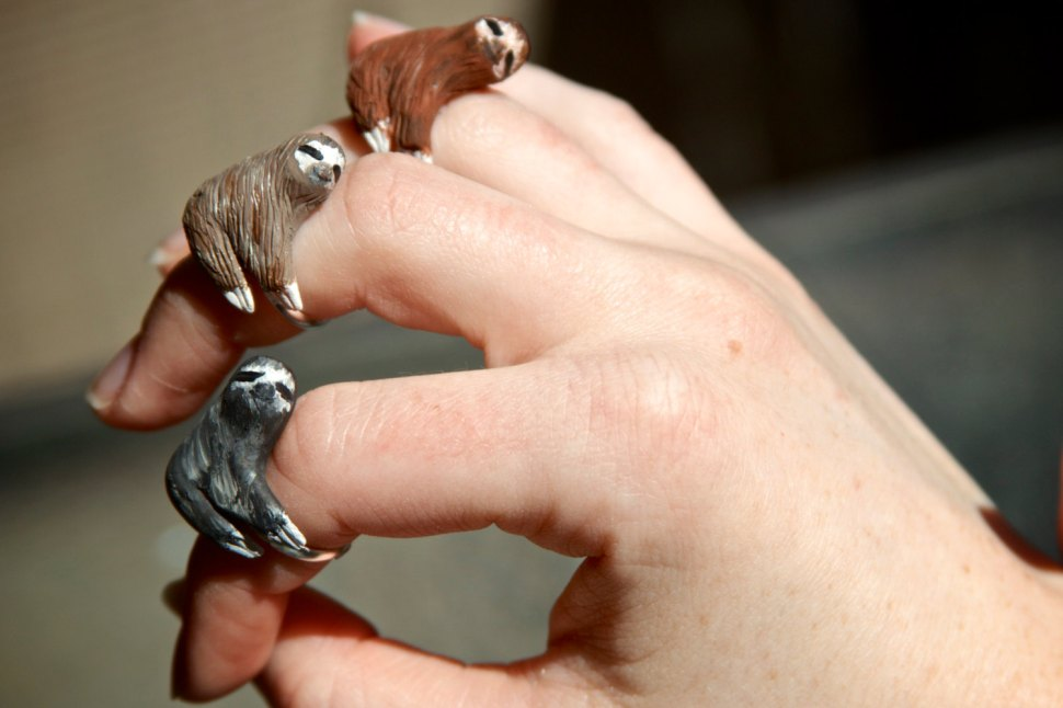 Sloth rings, made to order