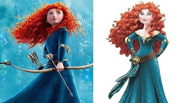 Disney gives Brave princess a body makeover