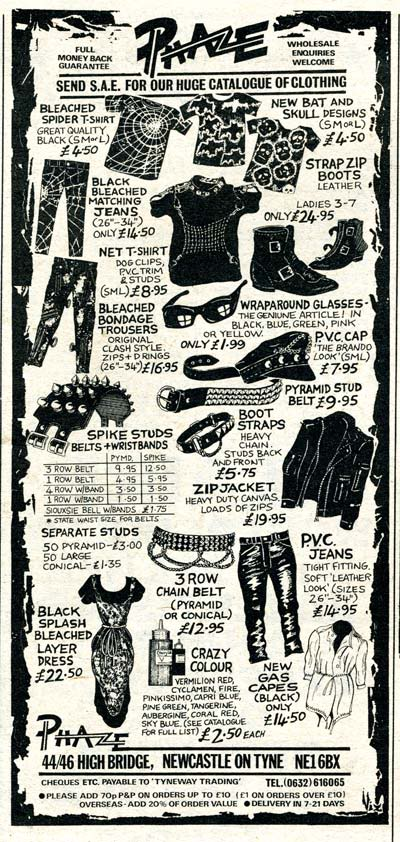Supplies for all your punk and punk-related needs