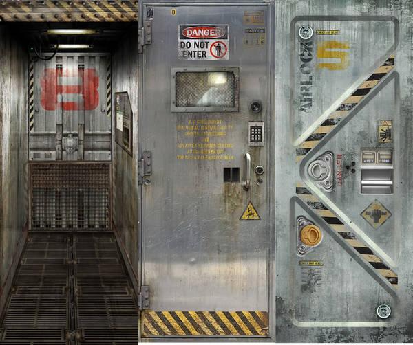Fool-the-eye video-game door decals