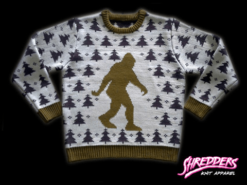 you might think id be all about the sasquatch knit bigfoot sweater but i prefer the satanic knit baphomet design