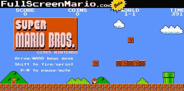 Super Mario fully implemented in HTML5 / Boing Boing