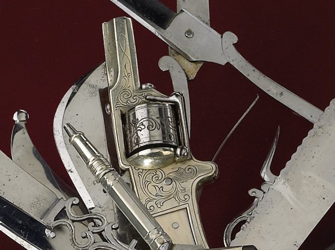 19th Century 9lb 100 Blade Multitool With A Pistol