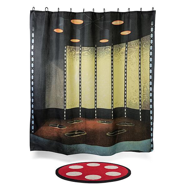 Star Trek transporter room shower-curtain and bathmat