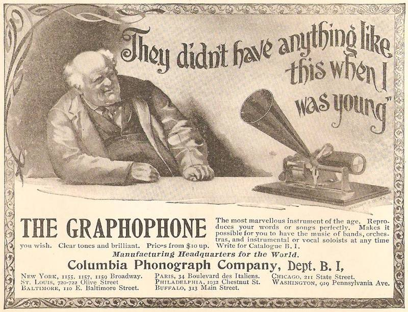Poignant Late 19th C Ad For A Newfangled Talking Machine
