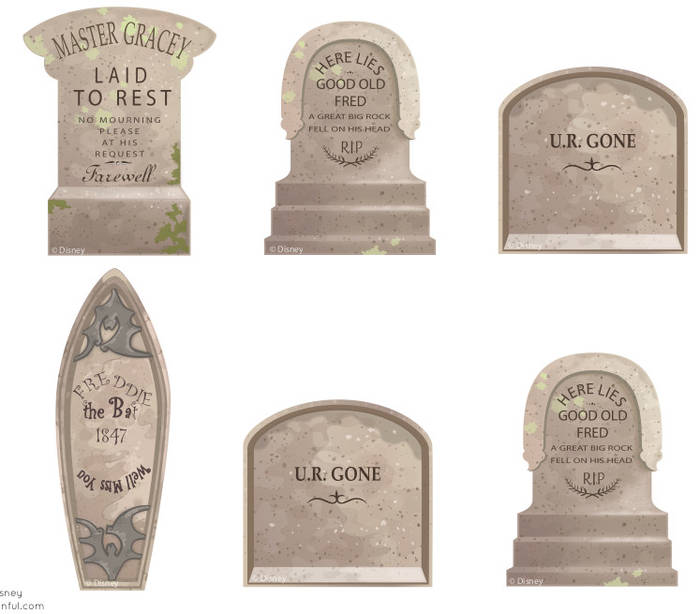 graphic about Tombstone Printable referred to as Printable Haunted Mansion tombstone templates / Boing Boing