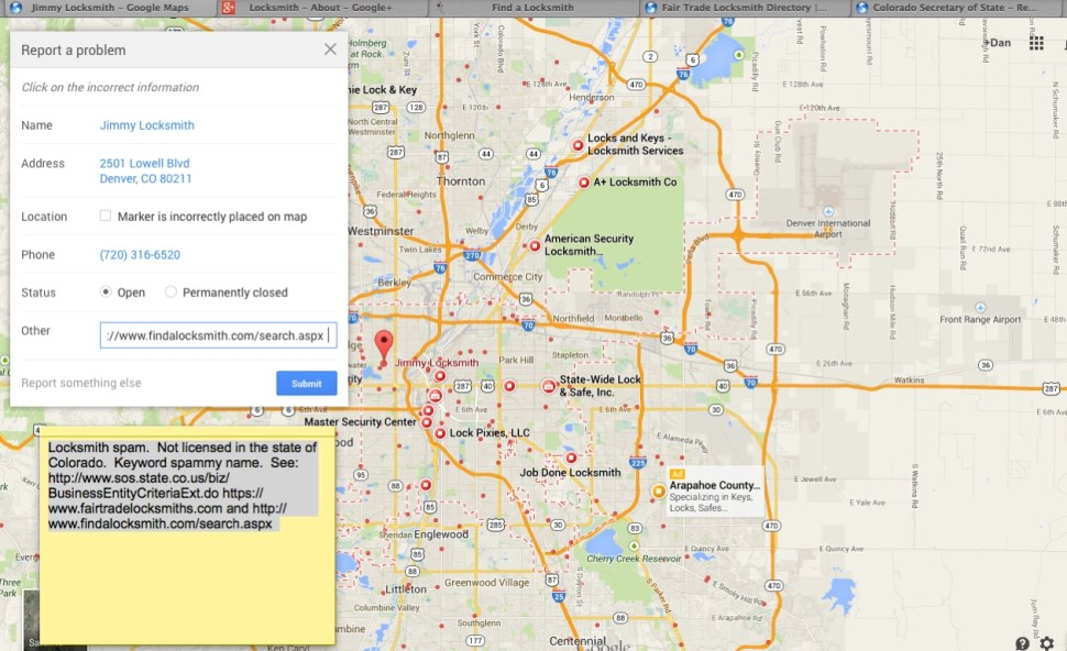 Google maps spam problem presents genuine security issues boing boing bryan seely a microsoft engineer demonstrated an attack against google maps through which he was able to set up fake secret service offices in the gumiabroncs Images