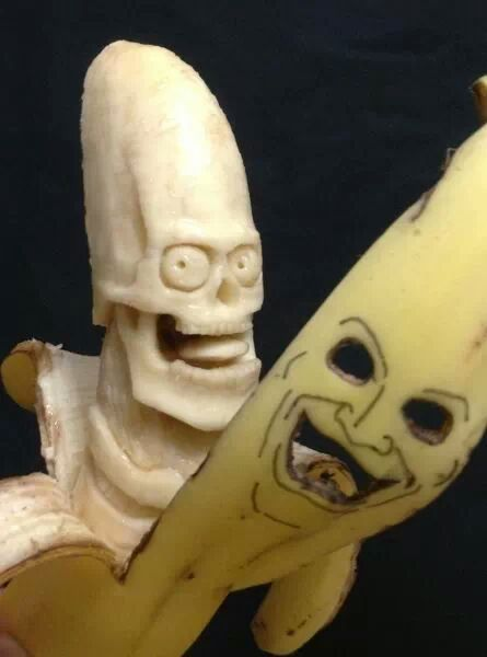 Just look at this sinister banana sculpture. / Boing Boing
