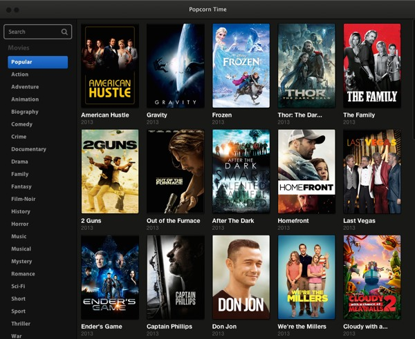 Popcorn Time App To Stream Torrent Movies Boing Boing