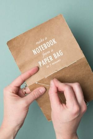 Make a notebook from a brown paper bag