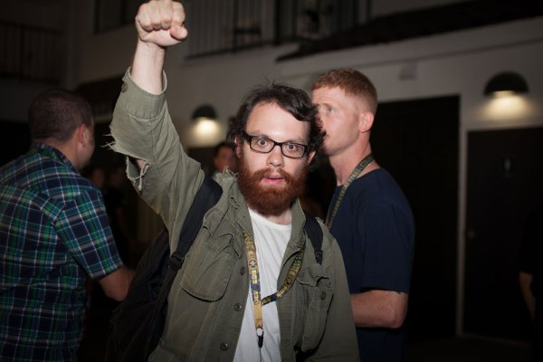 "Andrew ""Weev"" Auernheimer, in 2012. Photo: pinguino."