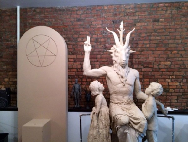 Photos of the new Satanic monument being built for Oklahoma's Statehouse