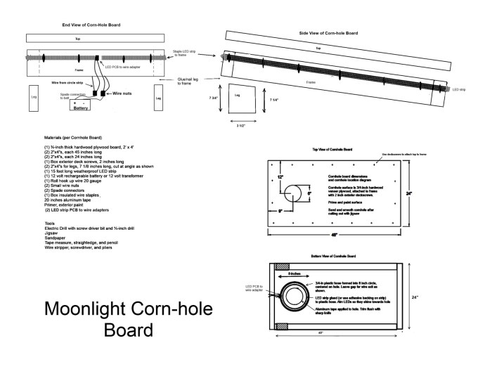moonlight cornhole plan