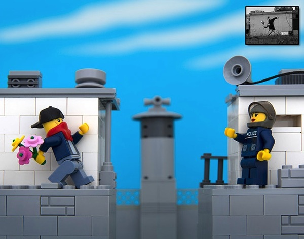 Banksy Artworks In Lego Boing Boing