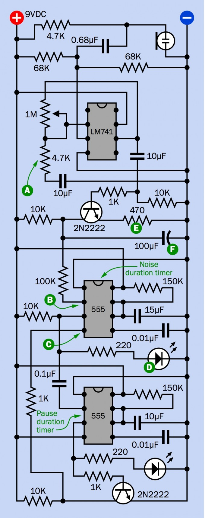 An Electronic Gadget To Silence Loudmouths Boing Above Is A Schematic Diagram Of Lm741 Light Dark Sensor Circuit Mme