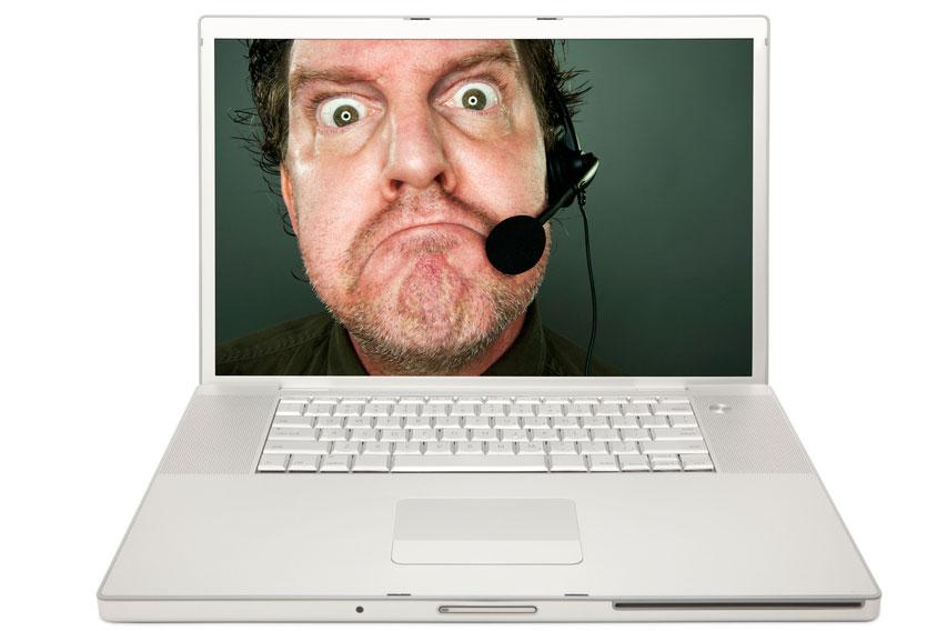 """""""Grumpy Tech Support Man,"""" a stock photograph from Shutterstock.com that seemed appropriate."""