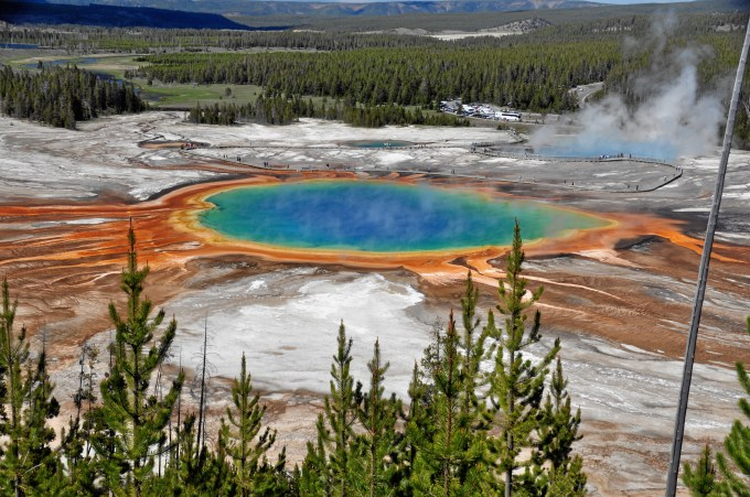 Some fucking shithead flew a drone into this beautiful fucking geyser [wikimedia]