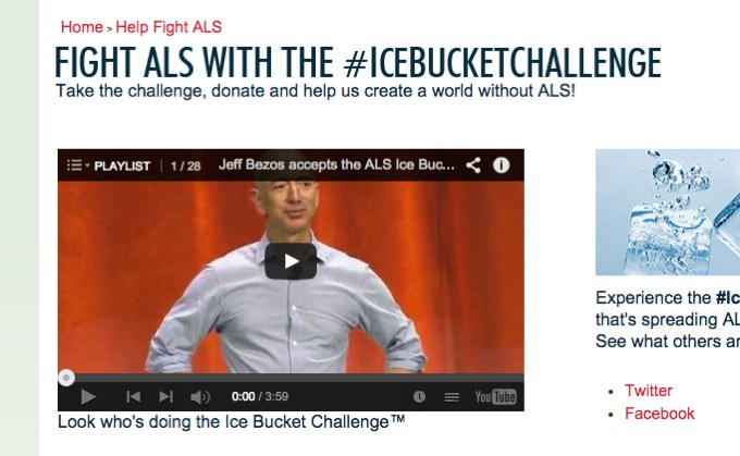 "This screengrab from the ALSA website shows a trademark symbol next to the phrase ""Ice Bucket Challenge."" ALSA has filed for protection over the phrase, though the nonprofit didn't create the campaign."