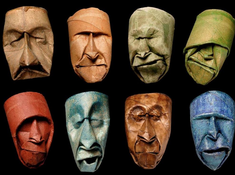 Face sculptures from toilet paper rolls boing boing for Tattoo shops in reading pa