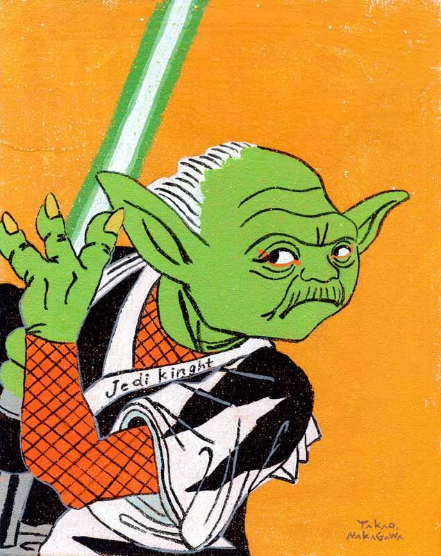 Takao Nakagawa Ukiyoe Character series 8, STAR WARS Jedi Master Yoda