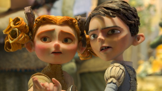 (L to R) Winnie (voiced by Elle Fanning) and Eggs (voiced by Isaac Hempstead Wright) in  LAIKA and Focus Features' family event movie THE BOXTROLLS, opening nationwide  September 26th.  Credit: LAIKA, Inc. / Focus Features