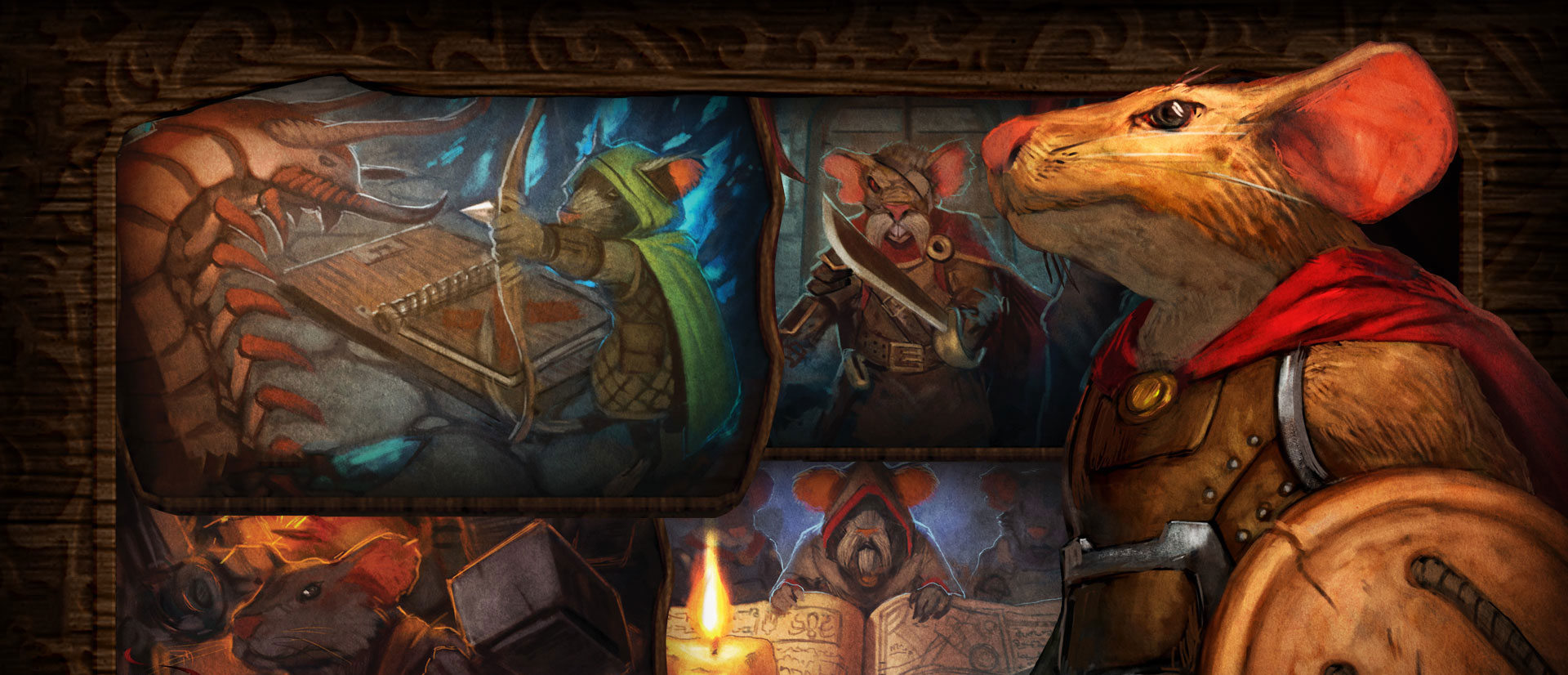 Mice and Mystics: awesome dungeoncrawler board game for all ages