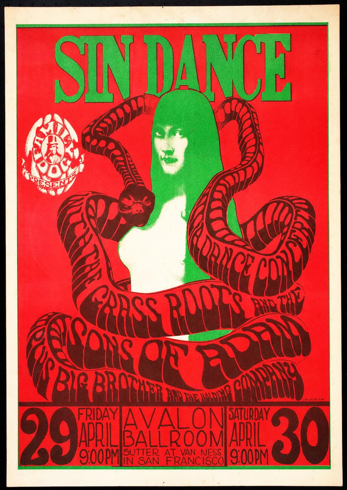 Sin Dance April 29 30 1966 Avalon Ballroom San Francisco