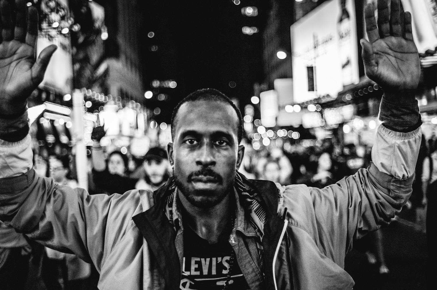 EXCLUSIVE: Photo gallery of Ferguson demonstrators in NYC