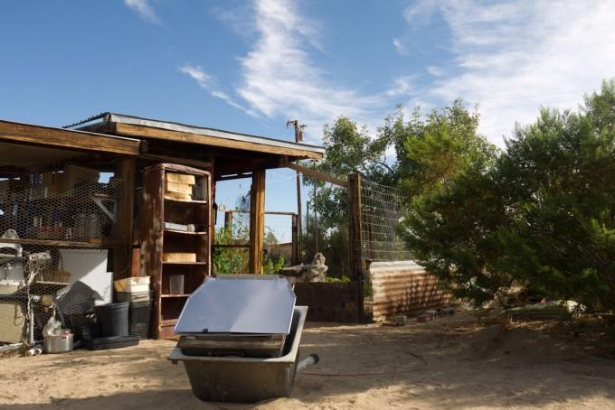 pantry, solar oven, garden