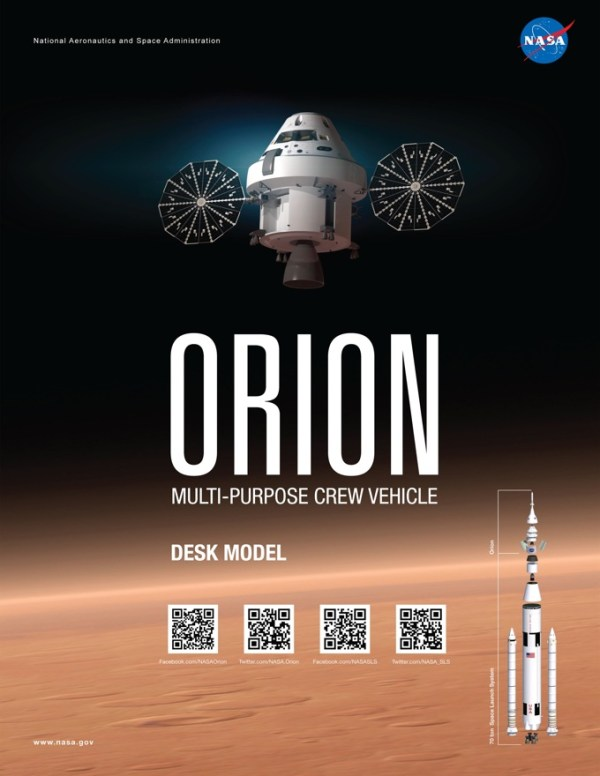 How to make a NASA Orion crew vehicle paper model / Boing ...